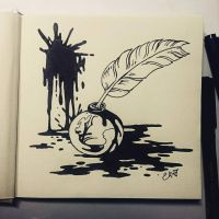 Instaart - Ink for Inktober by Candra