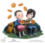 Daily Painting 1736# Stranger Things - Eggos by Cryptid-Creations