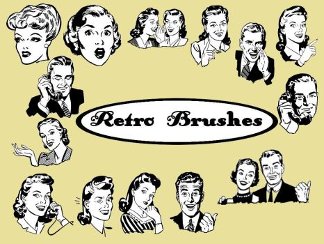 retro brushes by christiegayle
