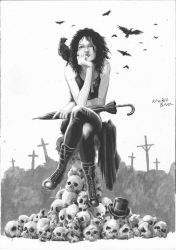 Death Sandman Inkwash by kewber