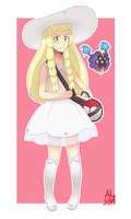 Lillie and Nebby - Pokemon Sun and Moon by AngieYellowCat