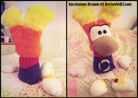 Commission: Small Rayman Plushie by Sarasaland-Dragon