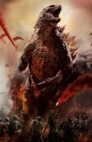 Empire Magazine second Godzilla cover  - TEXTLESS by Awesomeness360