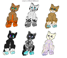 Adoptables ..all open.. by Official-Fallblossom