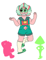 SU: Candy Jade (Steven + Peridot Fusion) by Strawberry-Spritz