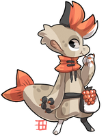 #920 HybriNomnom BB w/m - Salmonberry - GC auction by griffsnuff
