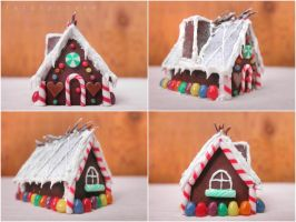 small house of gingerbread angles by FatalPotato