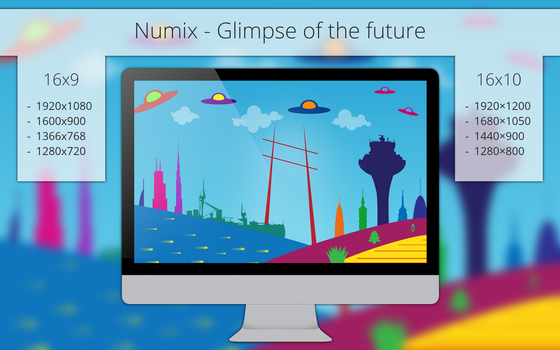Numix - Glimpse of the Future - Wallpaper by me4oslav