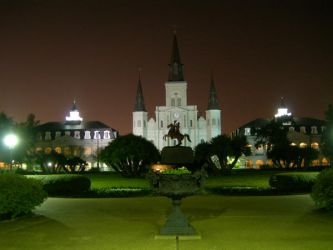 Jackson Square at Night 1 by Kicks02