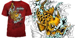 Gold Koi by seventharmy
