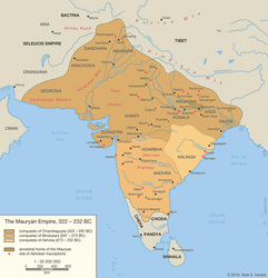 The Mauryan Empire, 322 - 232 BC by Undevicesimus