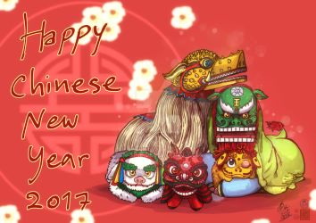 Happy Chinese new year 2017 by In-Sine