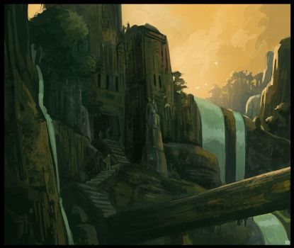 Old temple speed painting by Karbo
