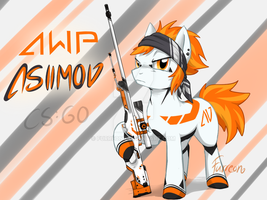 AWP Asiimov Pony (CS:GO) by Furreon