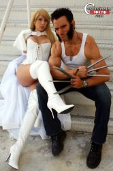 Emma Frost and Wolverine by ConstantineInTokyo