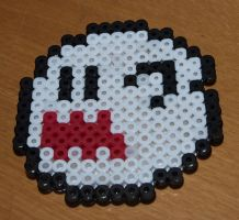 Boo from Super Mario - Perler or Hama by Chrisbeeblack