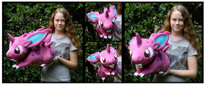 Commission: Lifesize Nidoran Plush