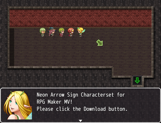Neon Arrow Sign Characterset ZIP (RPG Maker MV) by The-Dreaming-Boy-88