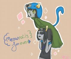 Nepeta and Equius: best meowrails by LilMissRaffy