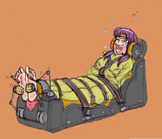 Misato immobilized and tickled by LGHX