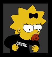 Maggie Simpson Metal by miadivided