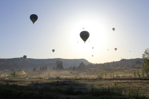 Balloons in Cappadocia take 2 by dragondi3