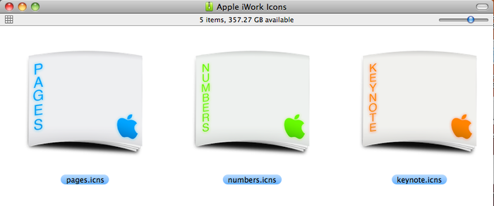 Apple iWork Icons by giantp