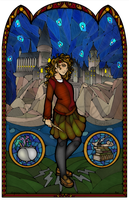 Hermione Stained Glass by Ranefea