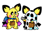A Pichu Brothers Halloween - Octoberland 2018 by raystar-draws