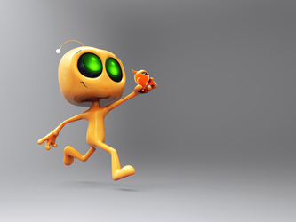 Zbrush Doodle Day 901 - Robot Kid Series 28 by UnexpectedToy
