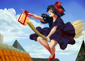 kiki's delivery service by MICHELANGELO12