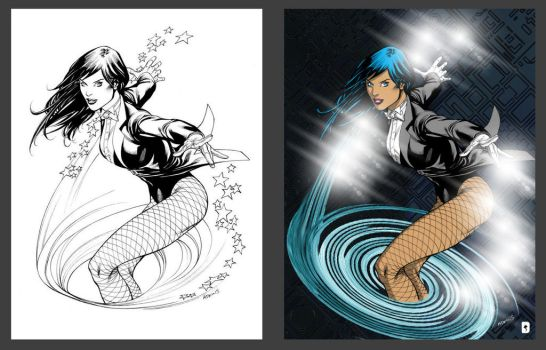 Zatanna- Before and after by mdbruffy
