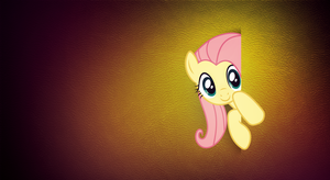Peek a boo! - Fluttershy Wallpaper (MLP:FiM) by allwat