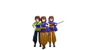 mmd Frisk And Chara OuterTale by SOfaChanell988