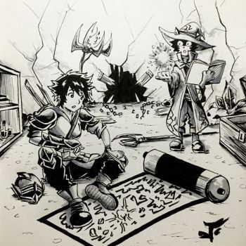 Day 22: Scrolls and Skills - Inktober 2017 by Jhincx-Faust