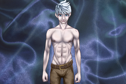 Jack frost, A male body study :WALLPAPER EDITION: by Rubeyz2