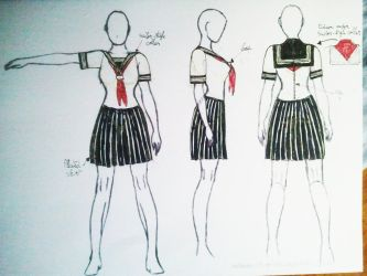 pvc schoolgirl uniform by pibraclab