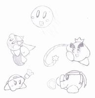 Kirby Copy Ability Sketches by ZeoLightning