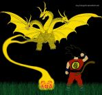Ghidorah ate Shenron by Guy-Inkognito
