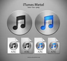iTunes Metal Icons by coloson