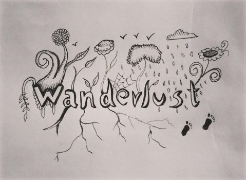 Wanderlust drawing by ashilraj