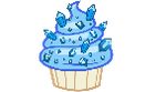 Sapphire Cupcake - Pixel by Owl-Parchment