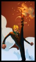 Sanji collab by Gandaresh