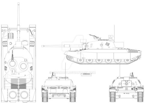 Pz-74 variante D by Giganaut