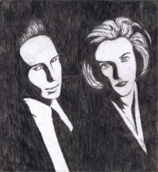 Mulder and Scully by FM-x-DS--JD-x-MR