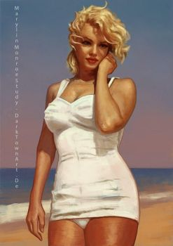 Study of Marilyn Monroe and painting video by ZombieSandwich