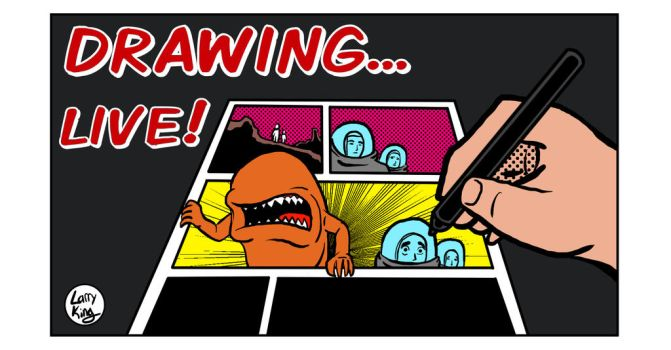 DRAWING... A Youtube Thumbnail by LarryKingUndead