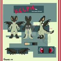 Character Reference: Kelpie the Dutch Angel Dragon by Takarti