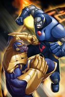 Thanos vs Darkseid by GenghisKwan
