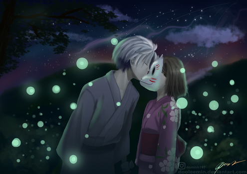 into the forest  of fireflies by dooleemin